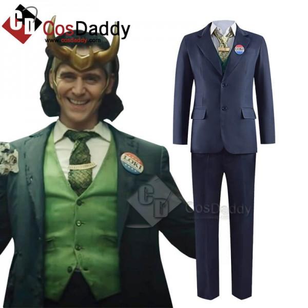 2021 TV Loki Uniform Cosplay Costume Halloween Out...