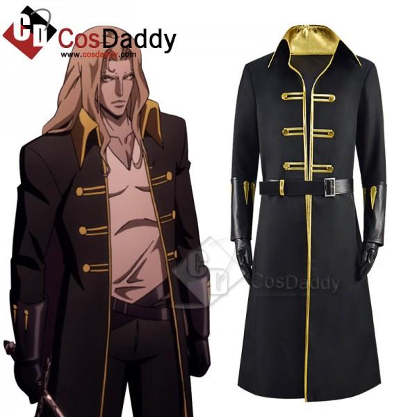 Castlevania Season 4 Alucard Cosplay Costume Black...