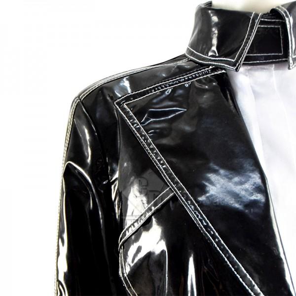 Cruella De Vil Cosplay Costume Cruella Black White Shirt Coat Pants Halloween Suit
