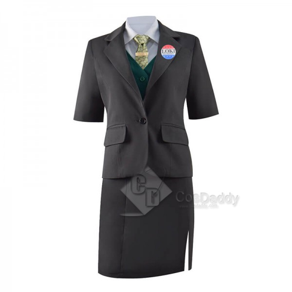 2021 Lady Loki Costume Female Loki Cosplay Costume Uniform for Sale