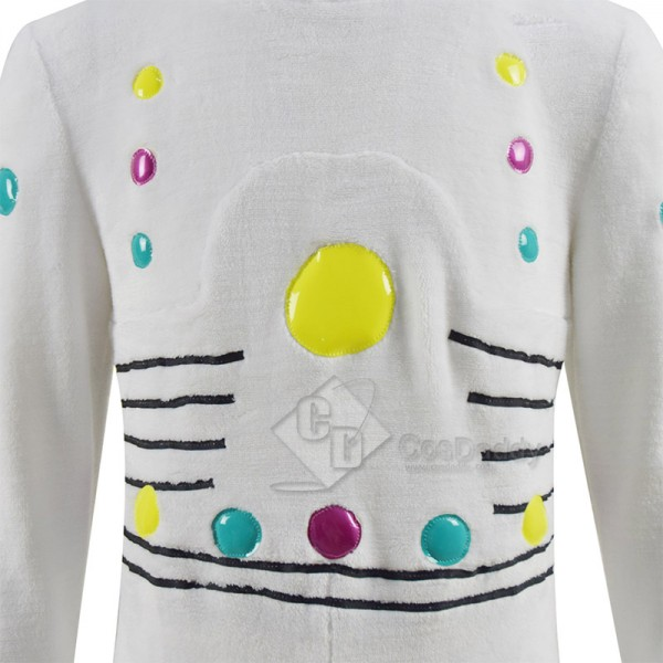 Sing 2 Gunter Cosplay Costume White Furry Jumpsuit Halloween Carnival Suit For Kids