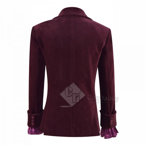 Third 3rd Doctor Planet of the Daleks Jacket Doctor Who Jon Pertwee Coat and Purple Shirt