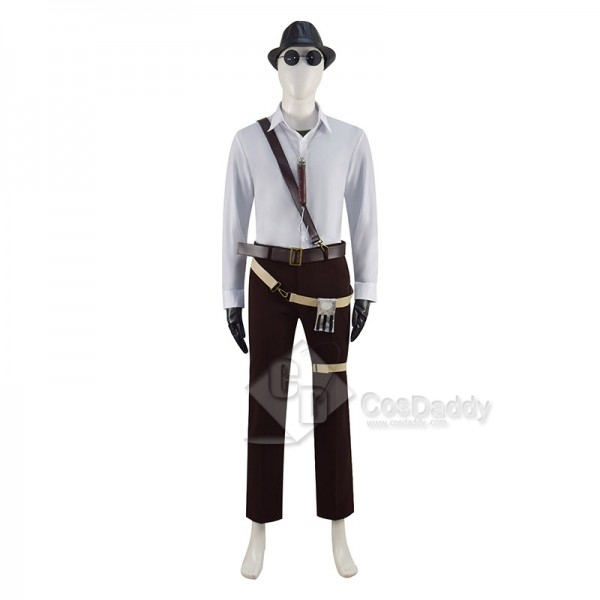 Resident Evil Village Karl Heisenberg Cosplay Costume Olive Drab Windbreakers Full Set