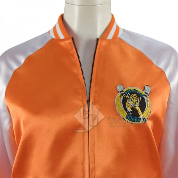 Sam Gunpowder Milkshake Karen Gillan Jacket Coat with Embroidered Letters