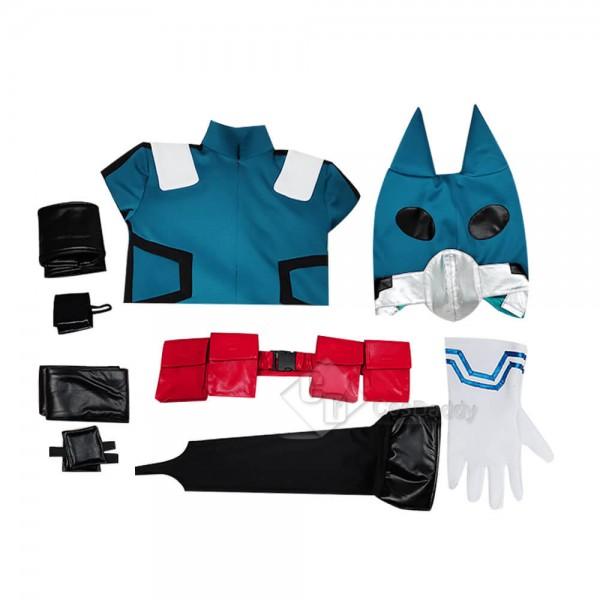 My Hero Academi Boku no Hero Akademia Izuku Midoriya Battle Suit Cosplay Costume