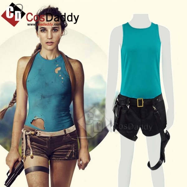 Tomb Raider Lara Croft Outfit Full Set Cosplay Hal...