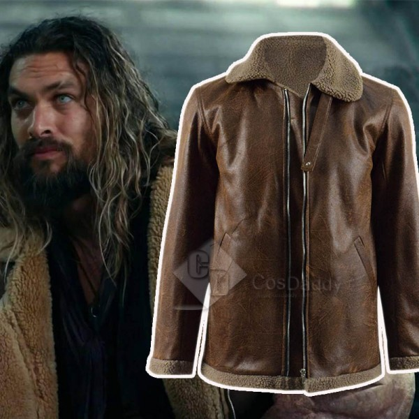 Justice League Aquaman Arthur Curry Jacket Coat Co...