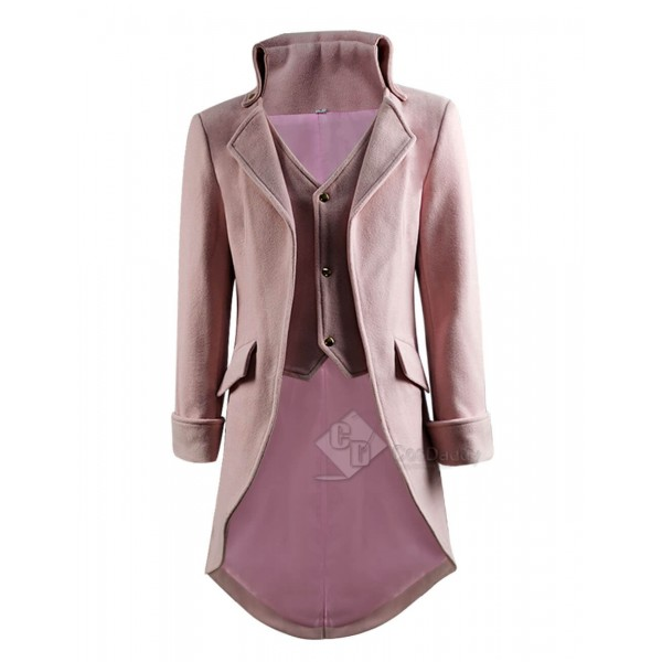 Gothic Victorian Steampunk Clothing Jakcet Woolen Tailcoat Outfit Coat
