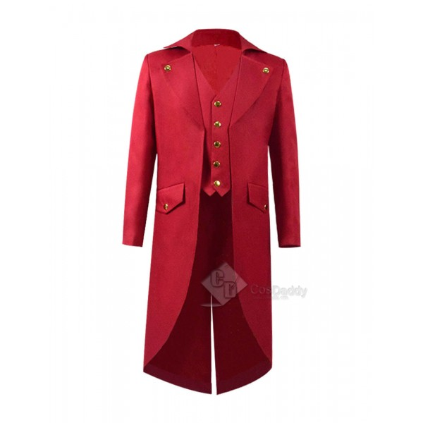 Cosdaddy Steampunk Costumes For Kids Fashion Red Long Jacket Cosplay Costumes