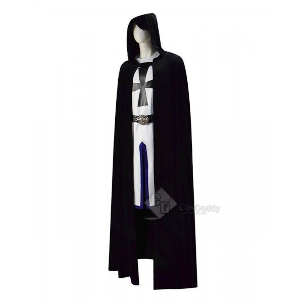 Mens Kids Medieval Templar Knight Tunic Crusader Halloween Cosplay Costumes Cloak