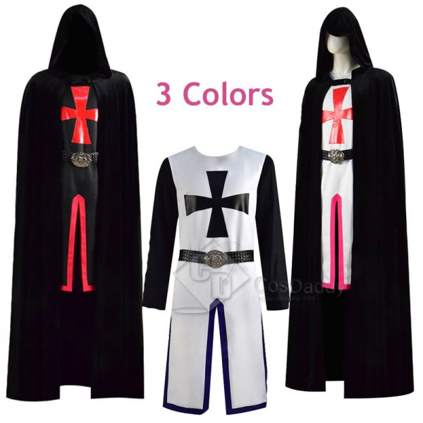 Mens Kids Medieval Templar Knight Tunic Crusader H...