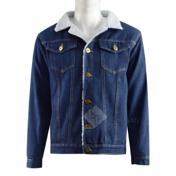 CosDaddy Game Tell Me Why Tyler Ronan Denim Cotton Jacket Coat Cosplay Costume