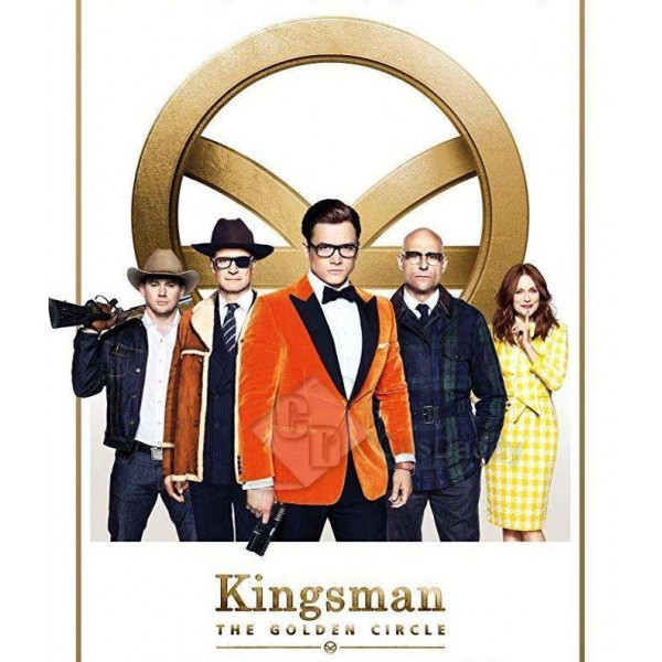 Kingsman The Golden Circle Taron Egerton Eggsy Tuxedo Suit New Arrivals