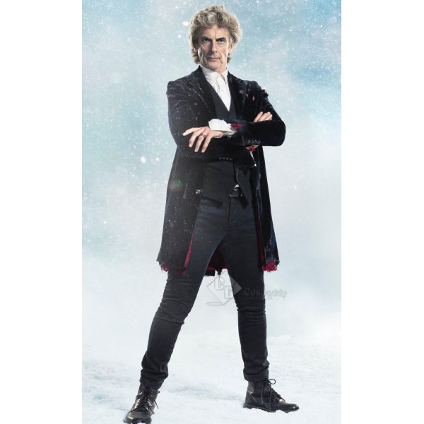 Doctor Who 2017 Christmas Special 12th twelfth Doctor Black Velvet Coat