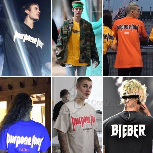Justin Bieber Same Style Fear of god Purpose Tour Lovers Brushed Thicken Hoodies