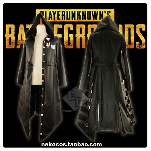 Playerunknown's Battlegrounds Costume Black Leathe...