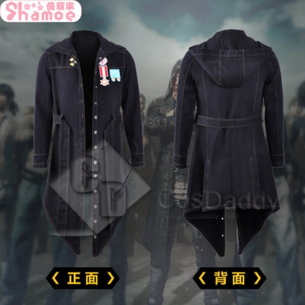 Playerunknown's Battlegrounds Costume Black Hooded Jacket (Nylon version