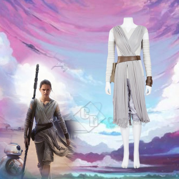Star wars VIII the Last Jedi Rey Dress Costume