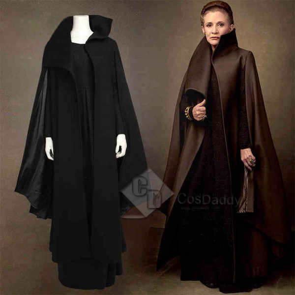 Star Wars VIII The Last Jedi Leia Organa Cosplay C...