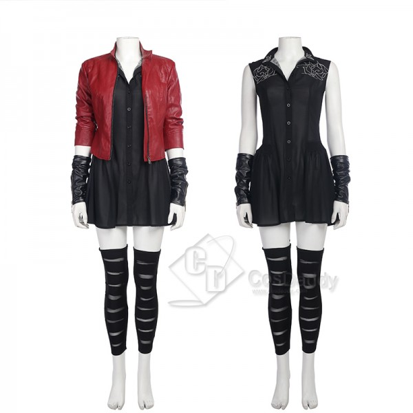 Avengers 2 Age of Ultron  Scarlet Witch Wanda Maximoff Cosplay Costume