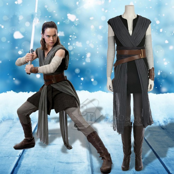 Star Wars VIII The Last Jedi Rey Cosplay Costume