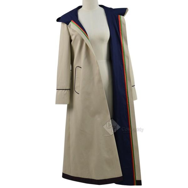 Doctor Who Thirteenth 13th Doctor Beige Coat Cosplay Costume