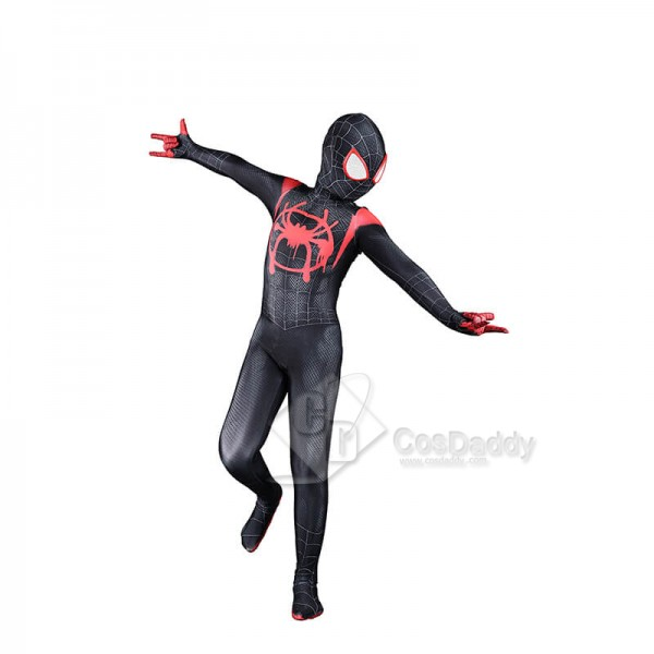 Spider-Man Into The Spider-Verse Miles Morales Cosplay Jumpsuit Halloween Costumes