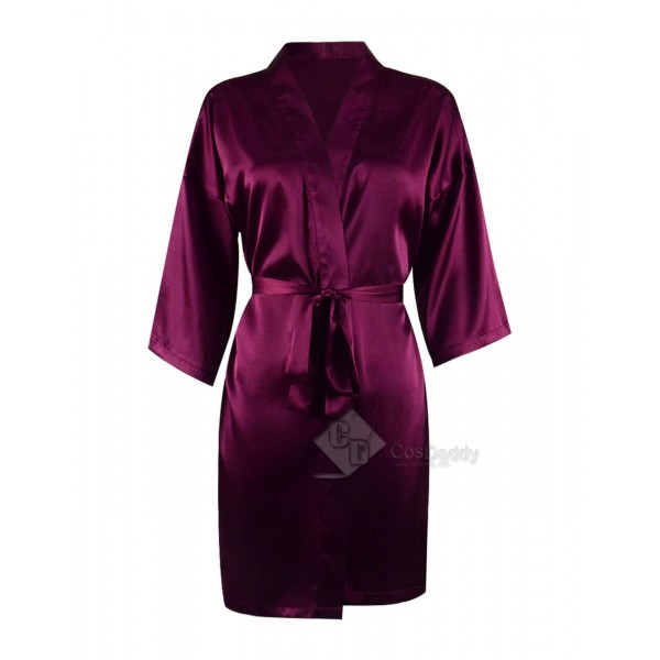 Sexy Luxury Purple Satin Robe And Nighty For Cheap...