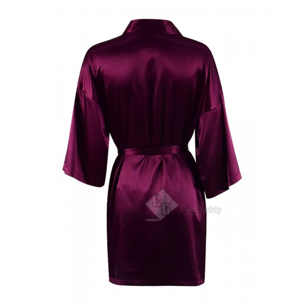 Sexy Luxury Purple Satin Robe And Nighty For Cheap