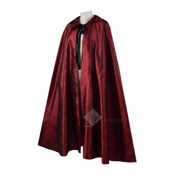 Halloween Costume Red Hooded Cape Cloak Coat For S...