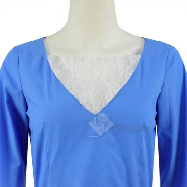 Hua Mulan Princess Cosplay Costume Han Chinese Clothing Blue Dress