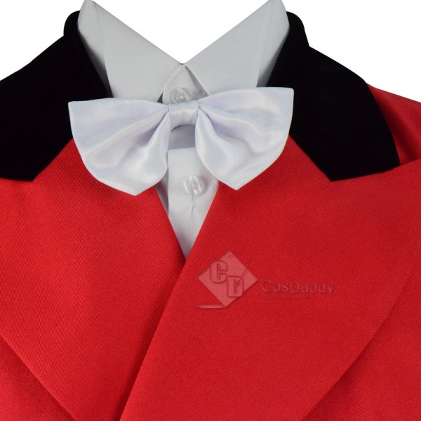 Adult Party Tuxedo Costume Red Double Breasted Cosplay Suits