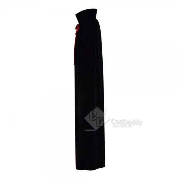 Halloween Fashion Chids Velvet Red Black Cloak Capes For Kids