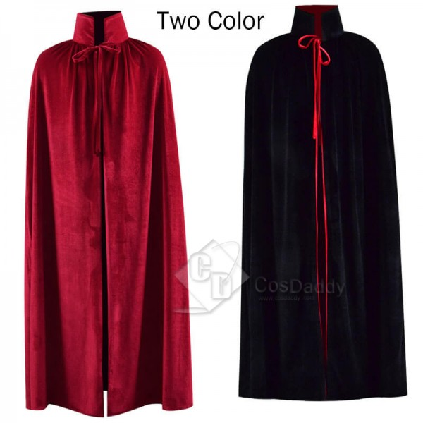 Halloween Fashion Chids Velvet Red Black Cloak Cap...