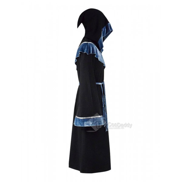 Black Halloween Magic Long Robe Hooded Costumes