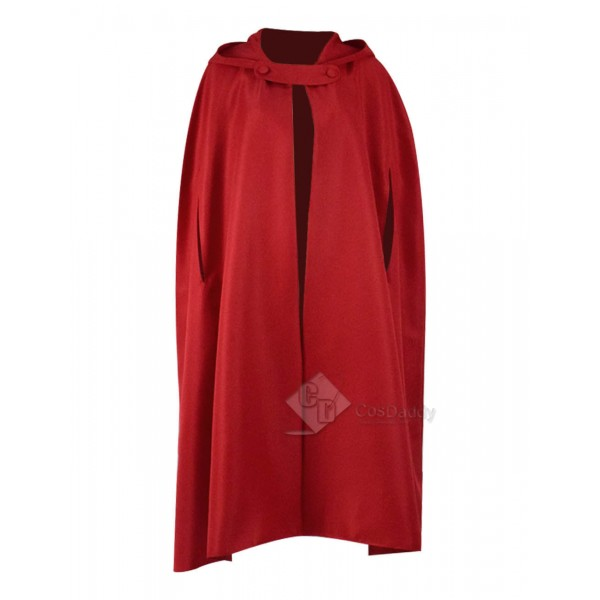 Halloween Costume Capes Red Hooded Cloak For Sale-...
