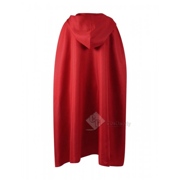 Halloween Costume Capes Red Hooded Cloak For Sale-Cosdaddy