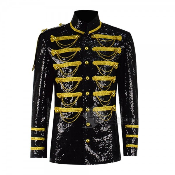 Gothic Jacket Mens Victoria Coat Costume Yellow Ch...