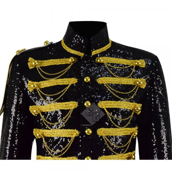 Gothic Jacket Mens Victoria Coat Costume Yellow Chain Party Outwear