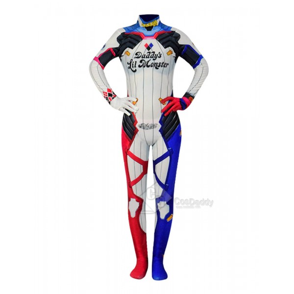 Suicide Squad Harley Quinn Women Zentai Bodysuit Superhero Cosplay Costume