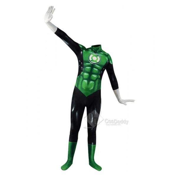 Green Lantern Superhero Costume Cosplay Suit Adult...
