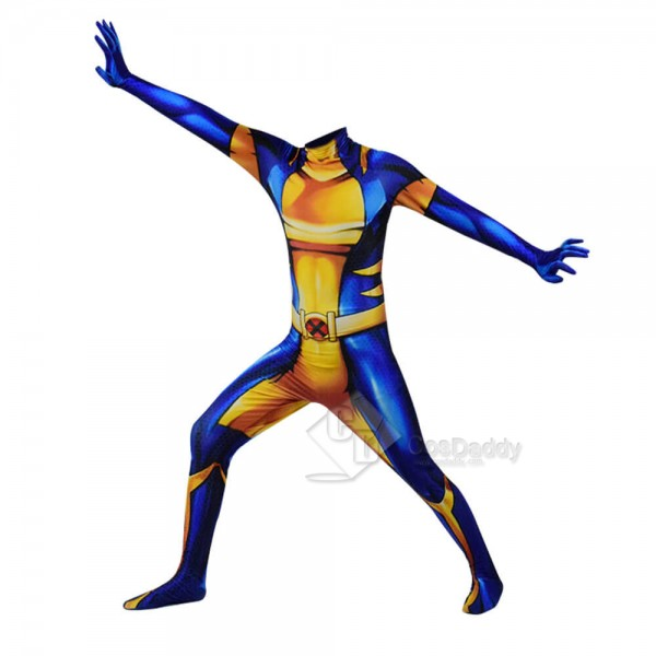 Wolverine Costume Mens Classic Marvel Superhero Su...
