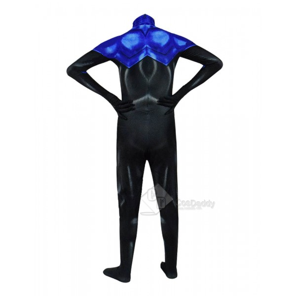 Blue Beetle Costume Superhero Lycra Spandex Halloween Cosplay For Sale 2019