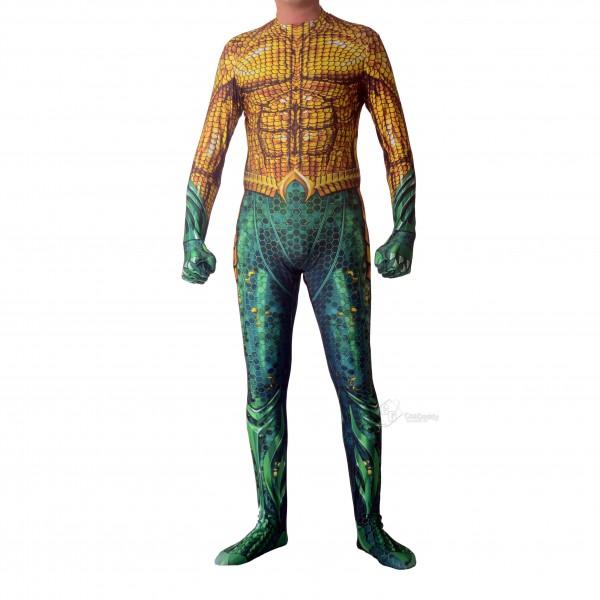 Halloween Cosplay Bodysuit Adult/Kids Unisex 3D Lycra Spandex Zentai Aquaman Arthur Costume