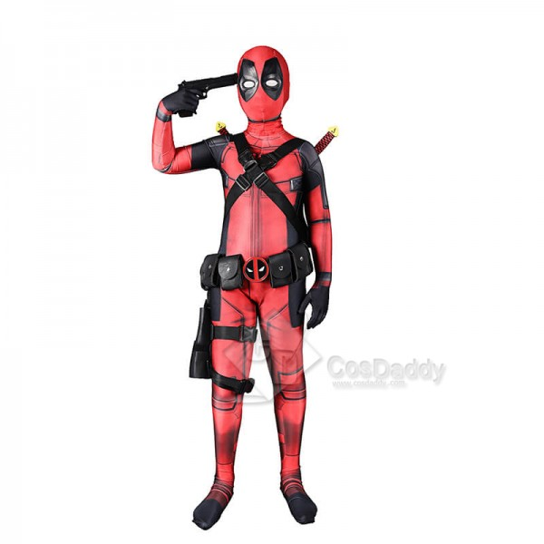 Deadpool Zentai Superhero Cosplay Costume Hallowee...