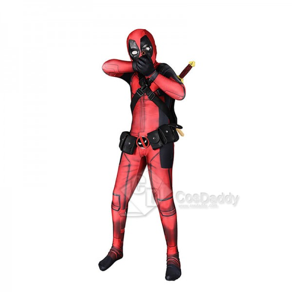Deadpool Zentai Superhero Cosplay Costume Halloween Bodysuit Lycra Spandex Jumpsuits