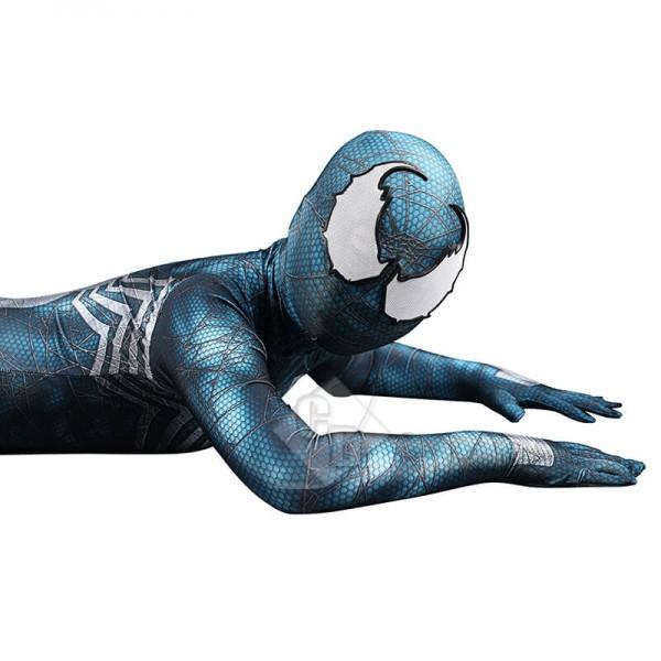 Venom Cosplay Bodysuit Jumpsuit Cyan-Blue Halloween Costumes