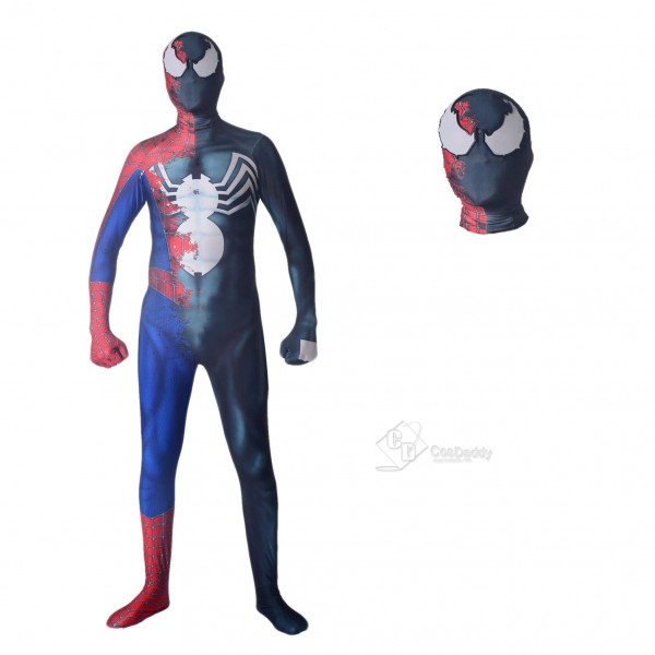 Halloween Raimi Half Venom Cosplay Costume Spider ...