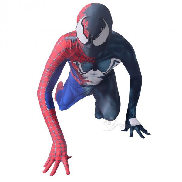 Halloween Raimi Half Venom Cosplay Costume Spider Bodysuit Adult/Kids