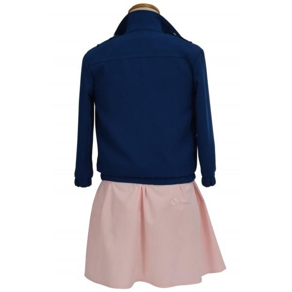 Stranger Things Eleven Pink dress Blue Jacket Costume
